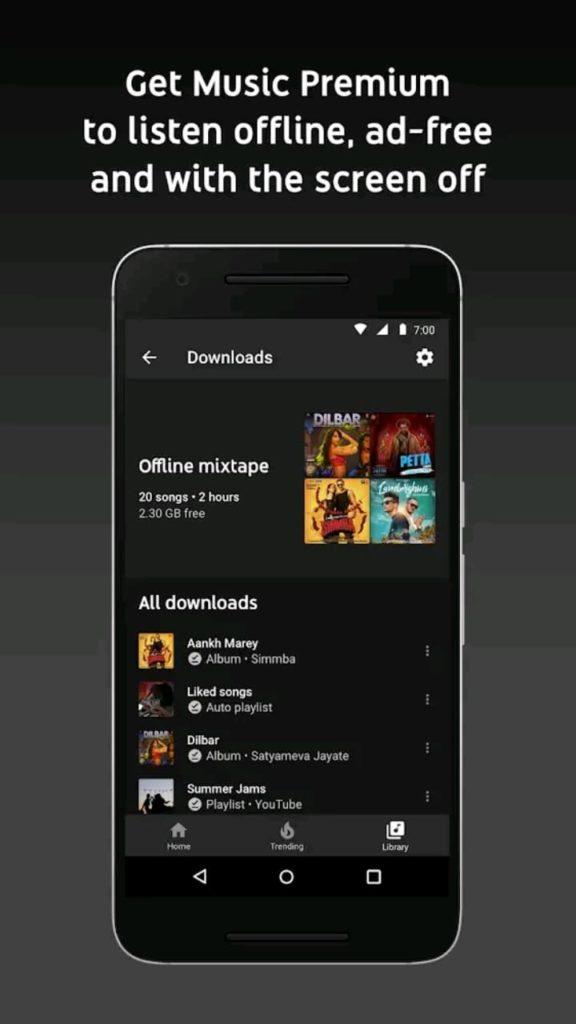 youtube music premium screen1