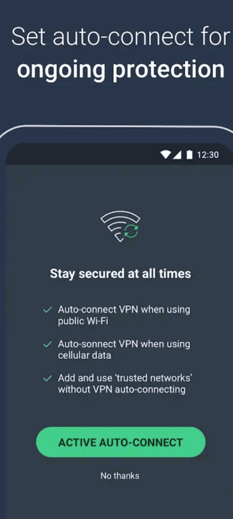 avg secure vpn screen5