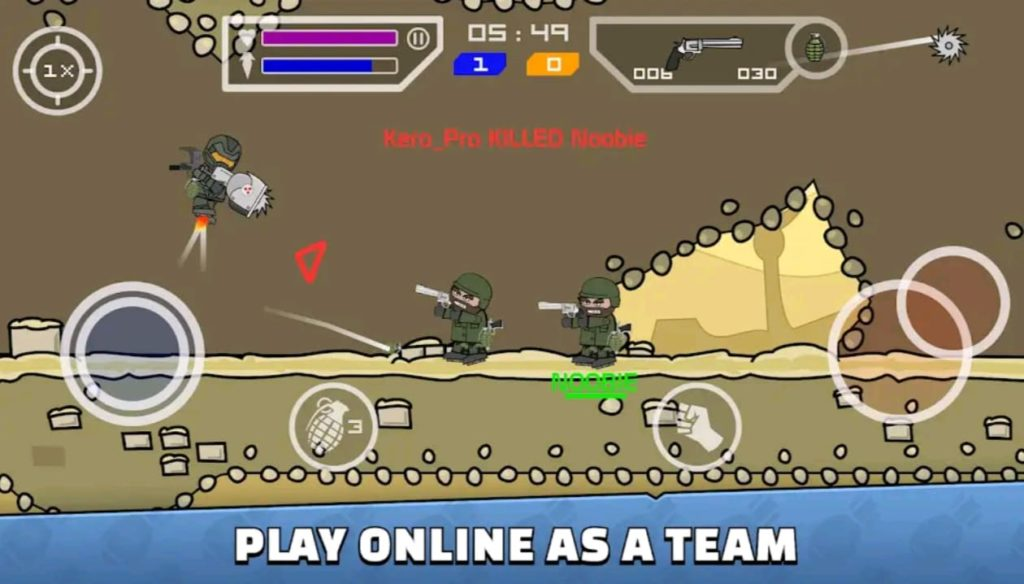 mini militia mod apk screen1