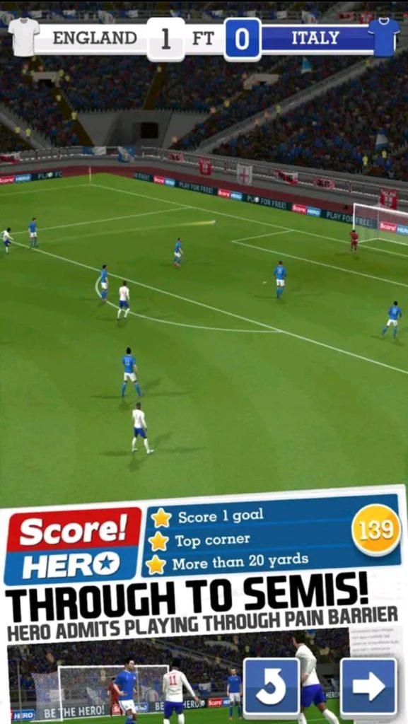 score hereos mod apk screen1