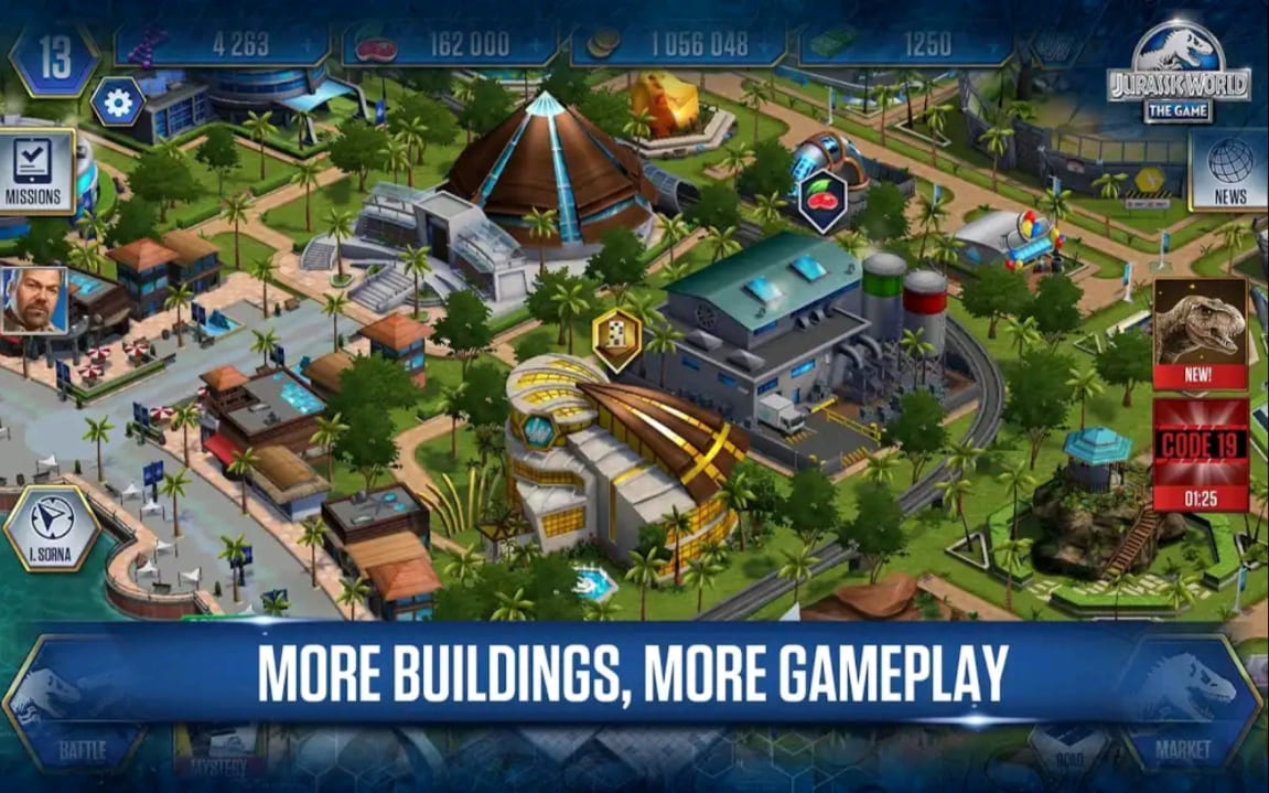jurassic world mod apk screen1
