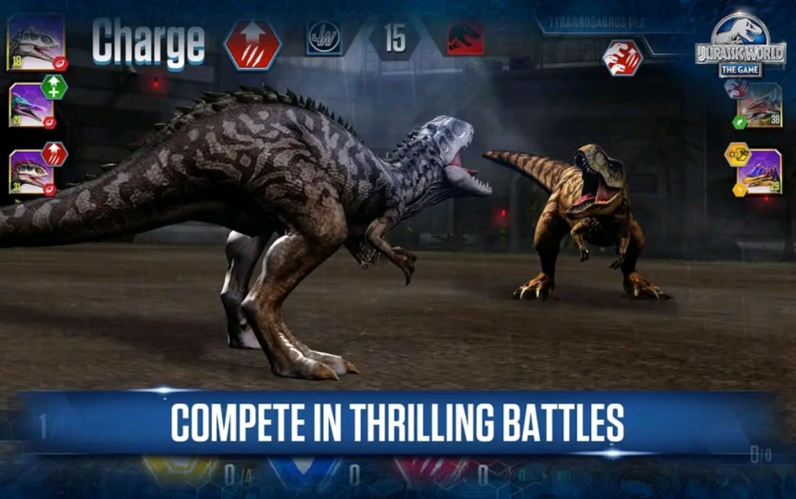 jurassic world mod apk screen3