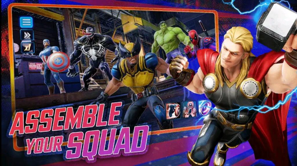 marvel strike force mod apk screen1