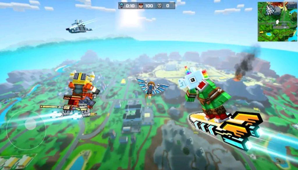 pixel gun 3d mod apk screen1